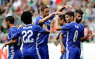 Chelsea celebrate a goal during the pre season friendly match at Weserstadion, Bremen, Germany.<br /> Picture by EXPA Pictures/Focus Images Ltd 07814482222<br /> 07/08/2016<br /> *** UK & IRELAND ONLY ***<br /> EXPA-EIB-160807-0226.jpg