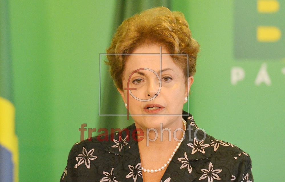Brasilia (DF), 19/03/2015 -DF -  Presidenta Dilma Rousseff durante cerimônia de anúncio de Medidas de Modernização do Futebol . Foto: Renato Costa / Frame