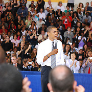 Barack Obama Town Hall at North Farmington Hills High School in Farmington Hills, MI. Monday, September 08, 2008.