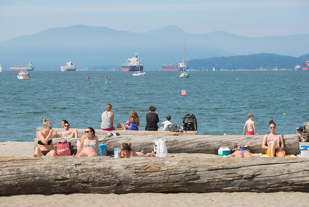 Canada, British Columbia, Vancouver ,English Bay, Kitsilano Beach, University Peninsula, beach