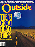 Outside Magazine Cover, Great Road Trips, Driving into the Night