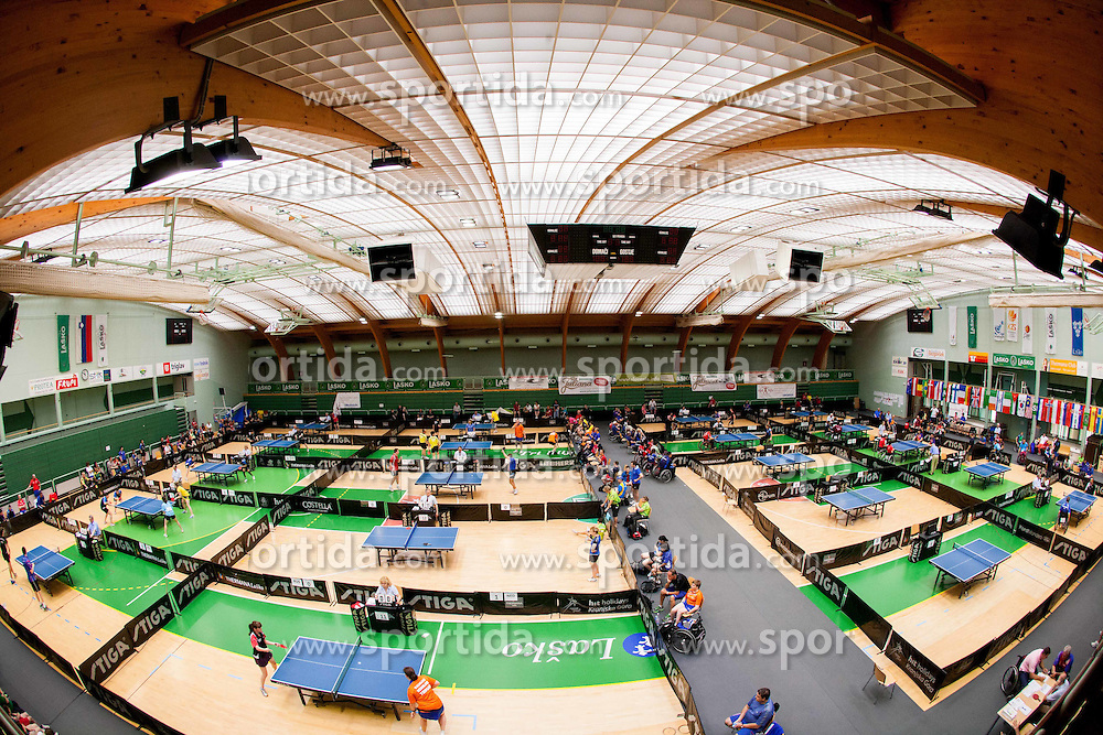 Arena at 9th Slovenia Open - Thermana Lasko 2012 - Table Tennis Tournament for the Disabled, on May 12, 2012, in Dvorana Tri Lilije, Lasko, Slovenia. (Photo by Vid Ponikvar / Sportida.com)