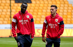 Famara Diedhiou of Bristol City and Josh Brownhill of Bristol City arrive at Molineux for the Sky Bet Championship fixture with Wolverhampton Wanderers - Mandatory by-line: Robbie Stephenson/JMP - 12/09/2017 - FOOTBALL - Molineux - Wolverhampton, England - Wolverhampton Wanderers v Bristol City - Sky Bet Championship