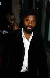 Writer BEN OKRI at a party hosted by Dom Perignon and Vanity Fair magazine to celebrate the launch of a unique collection of essays based on the theme of seduction to raise money for the charity English Pen. The paty was held at the Dom Perignon Mallroom,  13 Grosvenor Crescent, London W1 on 8th September 2004.