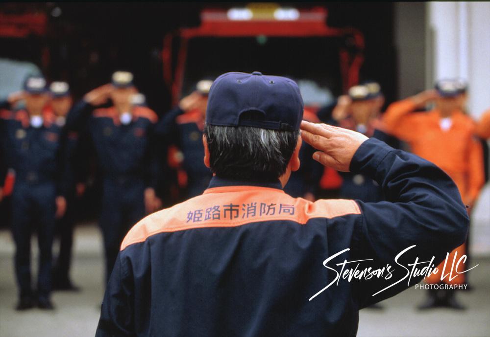Firemen Himeji, Japan