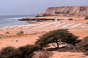 The French cemetery overlooking the Red Sea,  Obock, Republic of Djibouti
