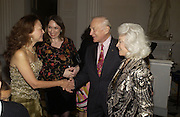 Olivia Decker, Freda Katritzky,  Buzz Aldrin and Lois Aldrin.. Launch of ' The World of Private Castles, Palaces and Estates. Syon House. 31 October 2005. ONE TIME USE ONLY - DO NOT ARCHIVE © Copyright Photograph by Dafydd Jones 66 Stockwell Park Rd. London SW9 0DA Tel 020 7733 0108 www.dafjones.com