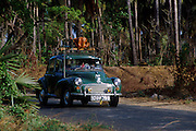 Morris Minor on the A9, Jaffna Peninsula near Iyankachchi...September 2002