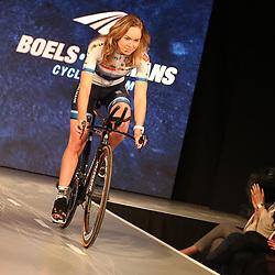 19-01-2017: Wielrennen: Persmoment Boels Dolmans: Valkenburg   <br /> VALKENBURG (NED) wielrennen<br /> In Chateau Sint Gerlach waar de groten der aarde overnachten presenteerde het Boels-Dolmans Womens Cyclingteam zich aan pers en genodigden. Olympisch en Europees Kampioen bij de vrouwen Anna van der Breggen