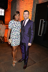 DENISE LEWIS and STEVE FINAN at A Night of Motown in aid of Save The Children UK held at The Roundhouse, Chalk Farm Road, London on 3rd March 2016.