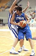 ATENE 21 AGOSTO 2007<br /> BASKET<br /> TORNEO AKROPOLIS<br /> ITALIA-GRECIA<br /> NELLA FOTO: BASILE<br /> FOTO CIAMILLO-CASTORIA