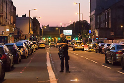 "Finsbury Park, London, June 19th 2017. A major police and emergency services operation with firearms officers in attendance is underway near Finsbury Park Mosque following reports of Several people being injured after a van struck a crowd of pedestrians near a north London mosque in what police have called a ""major incident""."