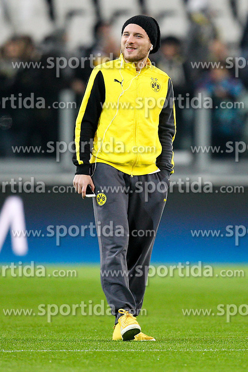 24.02.2015, Veltins Arena, Turin, ITA, UEFA CL, Juventus Turin vs Borussia Dortmund, Achtelfinale, Hinspiel, im Bild Ciro Immobilie #9 (Borussia Dortmund) auf dem Rasen gut gelaunt // during the UEFA Champions League Round of 16, 1st Leg match between between Juventus Turin and Borussia Dortmund at the Veltins Arena in Turin, Italy on 2015/02/24. EXPA Pictures &copy; 2015, PhotoCredit: EXPA/ Eibner-Pressefoto/ Kolbert<br /> <br /> *****ATTENTION - OUT of GER*****