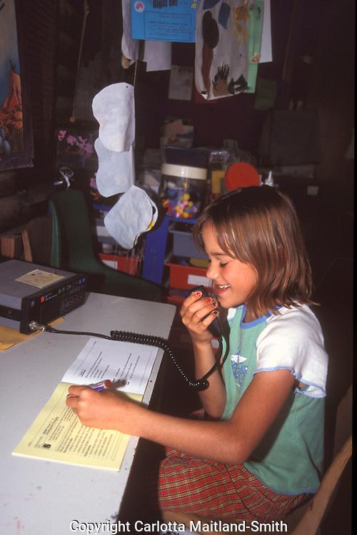 South Australia Gammon Ranges children attending school by radio.