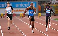 "Asafa POWELL USA winner (C), Christophe LEMAITRE (FRA) (L), Jaysuma SAIDY NDURE (NOR) (R)<br /> 100m<br /> Roma 10/6/2010 Stadio ""Olimpico""<br /> Golden Gala - Diamond League<br /> Atletica - Athletics<br /> Foto Massimo OLIVA Insidefoto"