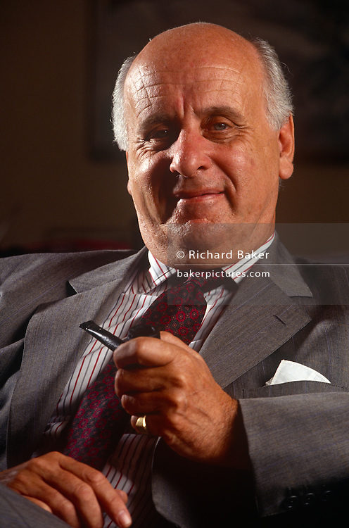 A business portrait of Etienne Francois Jacques Davignon, Viscount Davignon on 8th July 1993, in Brussels, Belgium. Davignon is a Belgian politician, businessman, and former vice-president of the European Commission.