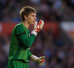 Manchester, England - Thursday, April 26, 2007: Manchester United's goalkeeper Ron-Robert Zieler during the FA Youth Cup Final 2nd Leg against Liverpool at Old Trafford. (Pic by David Rawcliffe/Propaganda)