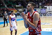 Delusione Gaspardo Raphael, RED OCTOBER MIA CANTU' vs THE FLEXX PISTOIA, Campionato Lega Basket Serie A 2017/2018 21^ giornata, PalaDesio Desio 11 marzo 2018 - FOTO Bertani/Ciamillo
