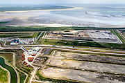 Nederland, Zuid-Holland, Rotterdam, 10-06-2015; Maasvlakte. Deponie van Van Gansewinkel Minerals, stortplaats voor gevaarlijk afval <br /> Landfill  for hazardous waste.<br /> <br /> luchtfoto (toeslag op standard tarieven);<br /> aerial photo (additional fee required);<br /> copyright foto/photo Siebe Swart