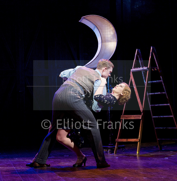 Mrs Henderson Presents <br /> at The Noel Coward Theatre, London, Great Britain <br /> press photocall <br /> 12th February 2016 <br /> <br /> Matthew Malthouse as Eddie<br /> <br /> Emma Williams as Maureen <br /> <br /> Photograph by Elliott Franks <br /> Image licensed to Elliott Franks Photography Services