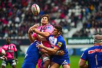 Jonathon ROSS / Fabien BARCELLA / Xavier MIGNOT - 14.03.2015 - Stade Francais / Grenoble -  20eme journee de Top 14<br /> Photo : David Winter  / Icon Sport<br /> <br />   *** Local Caption ***