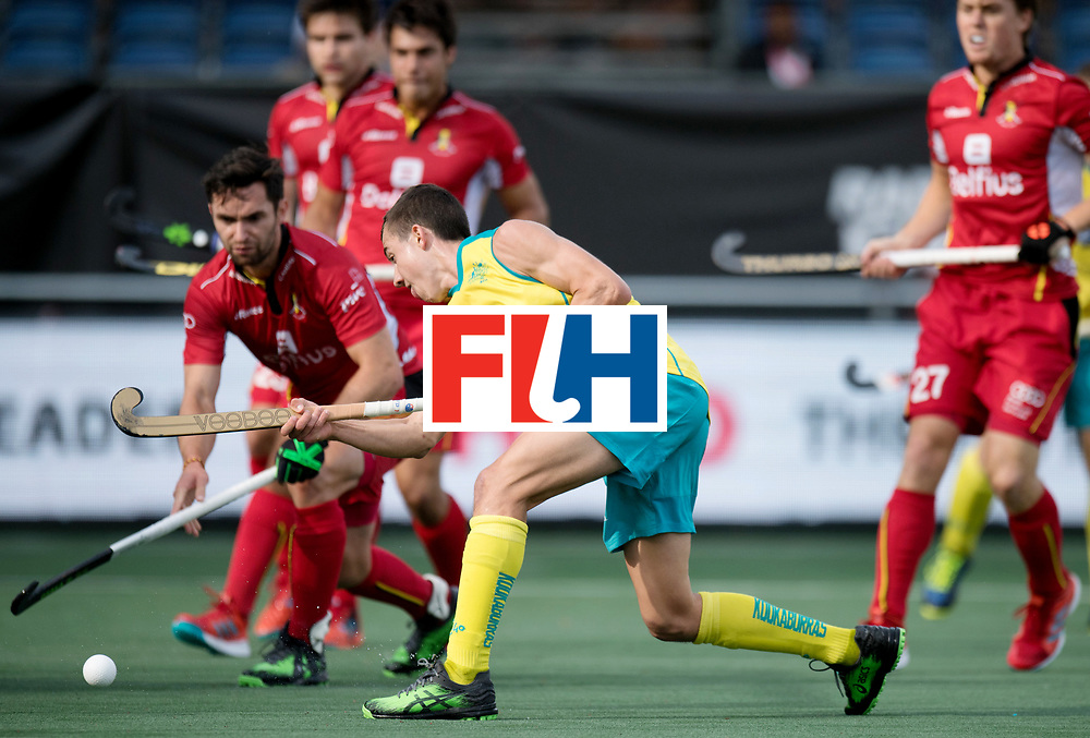 BREDA - Rabobank Hockey Champions Trophy<br /> Australia - Belgium <br /> Photo: Lachlan Sharp scoring the equaliser.<br /> COPYRIGHT WORLDSPORTPICS FRANK UIJLENBROEK