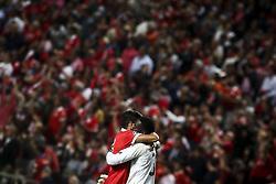 September 12, 2017 - Lisbon, Portugal - Benfica players celebrating their goal during the Champions League  football match between SL Benfica and CSKA Moskva at Luz  Stadium in Lisbon on September 12, 2017. NURPHOTO/CARLOS COSTA. (Credit Image: © Carlos Costa/NurPhoto via ZUMA Press)