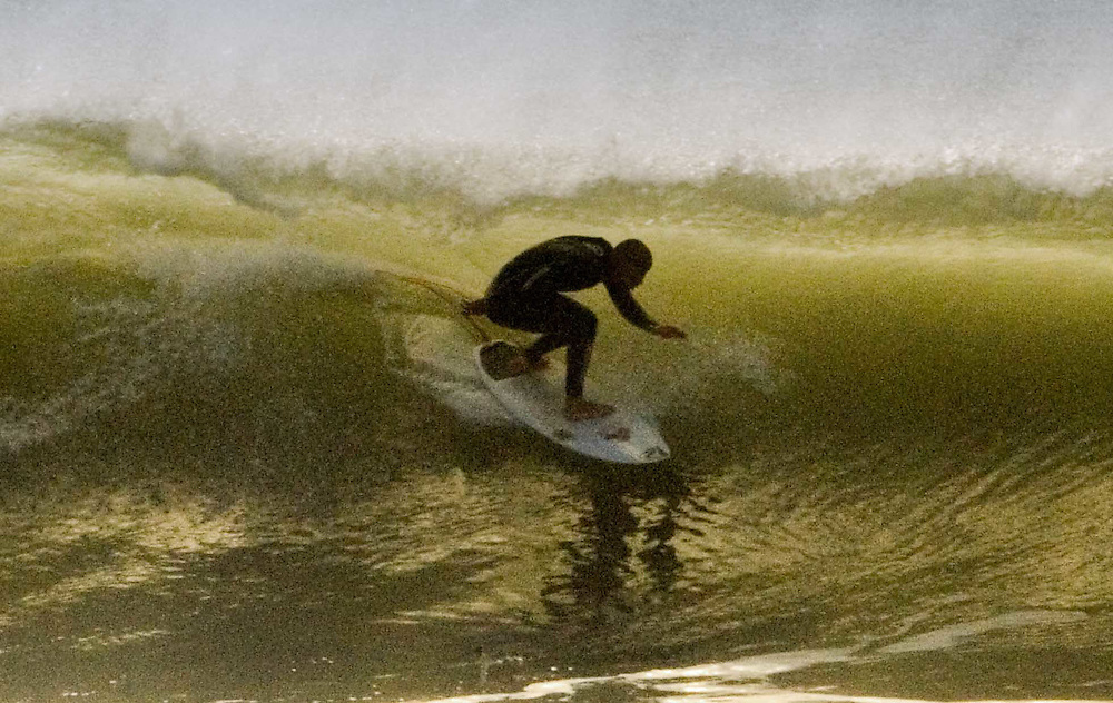 Dec 2006, Bobby Martinez finds this Hendry's green room the day after the fifty mile an hour winds, the crowds were at Rincon while just 3 or 4 locals worked the home spot with Bobby.