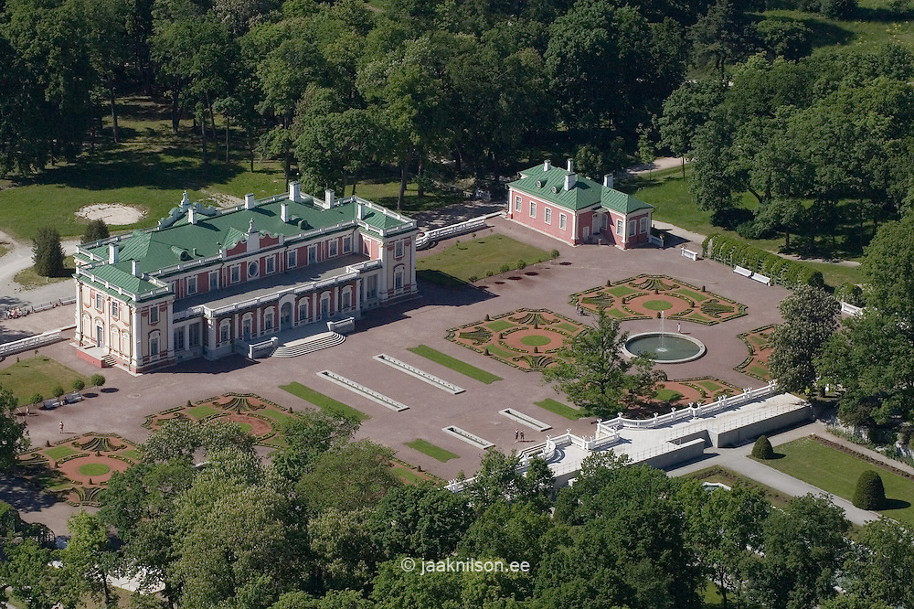 Kadriorg Palace and Park in Tallinn, Aerial View, Estonia