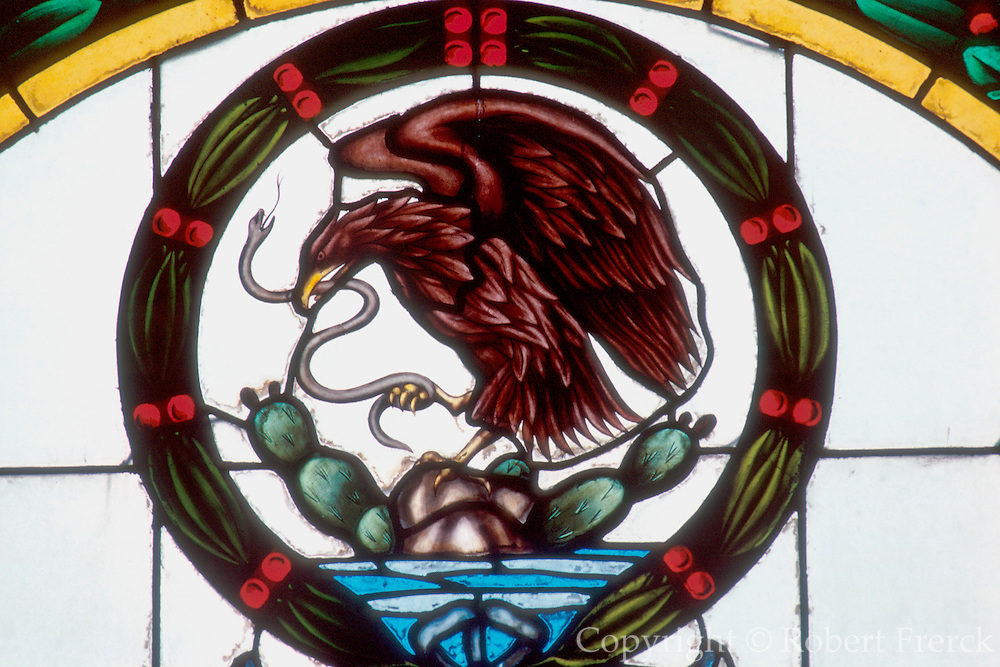 MEXICO, MEXICO CITY Nat. symbol; eagle, snake, cactus