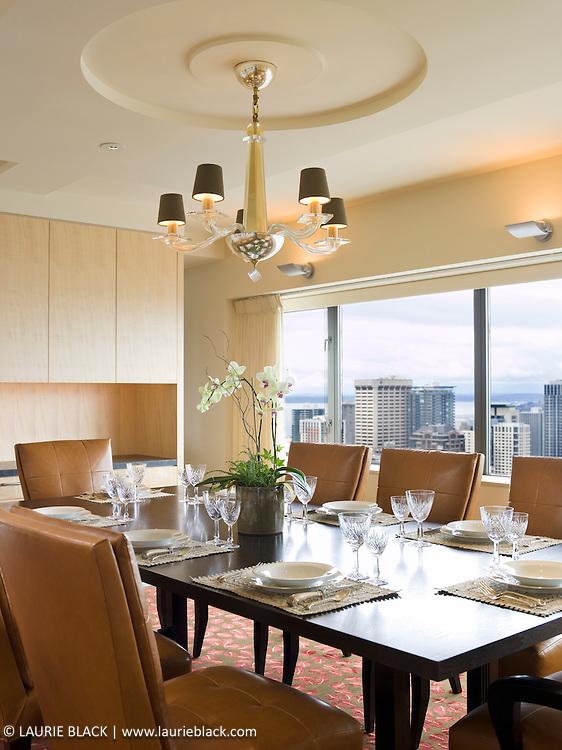 Elegant city dining room