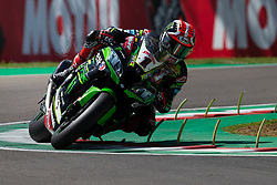 May 10, 2019 - Imola, BO, Italy - Jonathan Rea of Kawasaki Racing Team WorldSBK during the free practice 2 of the Motul FIM Superbike Championship, Italian Round, at International Circuit ''Enzo and Dino Ferrari'', on May 10, 2019 in Imola, Italy  (Credit Image: © Danilo Di Giovanni/NurPhoto via ZUMA Press)
