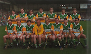 Offaly-All-Ireland Hurling Champions 1994. Back Row: S McGuckin, D Regan, J Pilkington, Kevin Kinahan, K Martin, H Rigney, B Whelahan. Front Row: Billy Dooley, John Troy, Martin Hanamy (capt), Jim Troy, Joe Dooley, B Kelly, Declan Pilkington, Johnny Dooley.