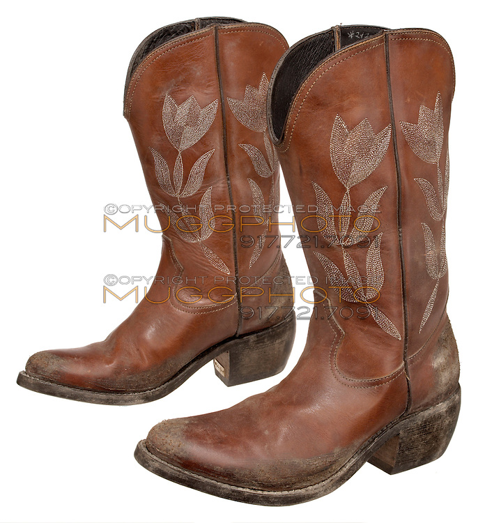 tulip stitched orange dirty golden goose cowboy boots