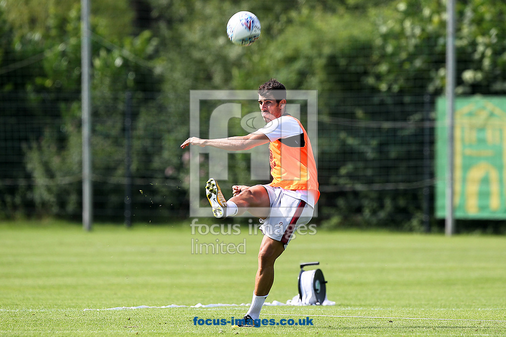 Nelson Oliveira of Norwich during the Norwich City Pre-Season Training session at Hotel Klosterpforte, Harsewinkel, Germany<br /> Picture by Paul Chesterton/Focus Images Ltd +44 7904 640267<br /> 18/07/2017