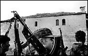 War in Kosovo<br /> KLA fighters in the village Svrhe