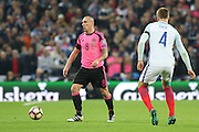 Scotland Midfielder Scott Brown during the FIFA World Cup Qualifier group stage match between England and Scotland at Wembley Stadium, London, England on 11 November 2016. Photo by Phil Duncan.