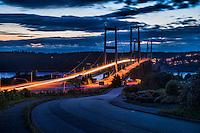 Tacoma Narrows Bridge @ Dusk, Tacoma, Washington, USA