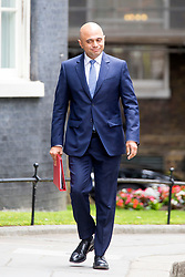 © Licensed to London News Pictures. 12/06/2017. London UK. Sajid Javid arrives in Downing Street ahead of Theresa May's first Cabinet meeting since the General Election this afternoon. Photo credit: Andrew McCaren/LNP