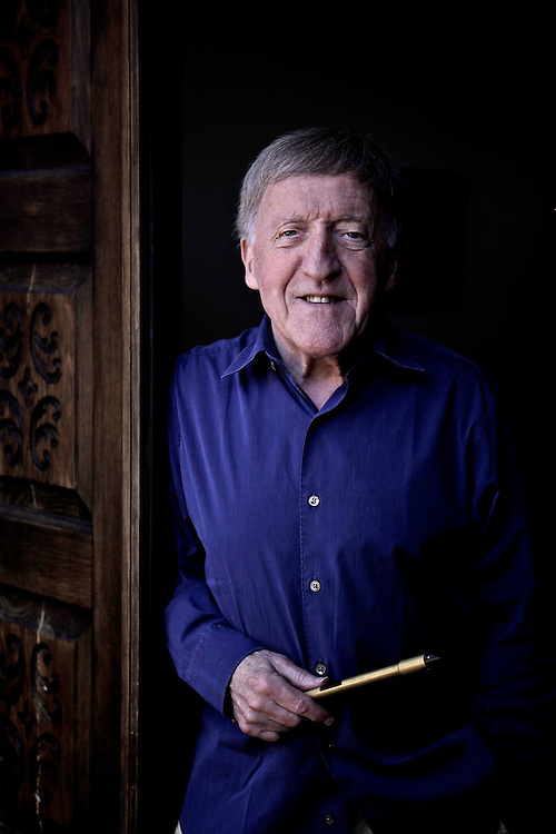 Paddy Moloney, one of the founders of the Irish musical group, The Chieftains, at his home in Naples, Fla. on Jan. 30, 2012.