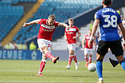 Andreas Weimann of Bristol City attempts a shot during the EFL Sky Bet Championship match between Sheffield Wednesday and Bristol City at Hillsborough, Sheffield, England on 22 April 2019.
