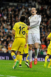 01.03.2015, Estadio Santiago Bernabeu, Madrid, ESP, Primera Division, Real Madrid vs FC Villarreal, 25. Runde, im Bild Real Madrid´s Gareth Bale // during the Spanish Primera Division 25th round match between Real Madrid CF and Villarreal at the Estadio Santiago Bernabeu in Madrid, Spain on 2015/03/01. EXPA Pictures © 2015, PhotoCredit: EXPA/ Alterphotos/ Luis Fernandez<br /> <br /> *****ATTENTION - OUT of ESP, SUI*****