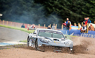 25:08:2012.BTCC weekend at Knockhill. .Jamie Orton puts his Ginetta G55 in the gravel at the chicane during qualifying...Pic:Andy Barr.07974 923919  (mobile).andy_snap@mac.com.All pictures copyright Andrew Barr Photography. .Please contact before any syndication. .