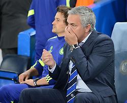 Chelsea Manager, Jose Mourinho - Photo mandatory by-line: Alex James/JMP - Mobile: 07966 386802 - 17/09/2014 - SPORT - FOOTBALL - London - Stamford Bridge - Chelsea v Schalke 04 - Champions League Group Stage