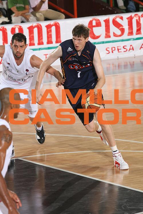 DESCRIZIONE : Caserta Lega A1 2007-08 Torneo Citt&agrave; di Caserta Lottomatica Virtus Roma Virtus Bologna<br /> GIOCATORE : Gregor Fucka<br /> SQUADRA : Lottomatica Virtus Roma<br /> EVENTO : Campionato Lega A1 2007-2008 <br /> GARA : Lottomatica Virtus Roma Virtus Bologna<br /> DATA : 16/09/2007 <br /> CATEGORIA : Penetrazione<br /> SPORT : Pallacanestro <br /> AUTORE : Agenzia Ciamillo-Castoria/M.Marchi