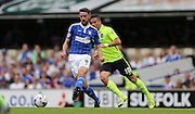 Ipswich Town midfielder Cole Skuse plays a pass during the Sky Bet Championship match between Ipswich Town and Brighton and Hove Albion at Portman Road, Ipswich, England on 29 August 2015.