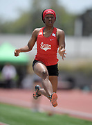 A'Lena Chaney of Serra places sixth in the girls long jump at 18-7 during the 2019 CIF Southern Section Masters Meet in Torrance, Calif., Saturday, May 18, 2019.