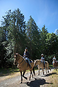 Horse back trail ride, Orcas Island, San Juan Islands Washington, USA