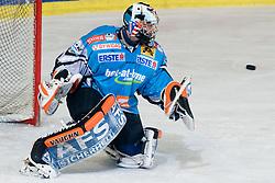 Alex Westlund (EHC Liwest Black Wings Linz, #32) blocks a puck during ice-hockey match between HDD Tilia Olimpija and EHC Liwest Black Wings Linz in 37th Round of EBEL league, on Januar 9, 2011 at Hala Tivoli, Ljubljana, Slovenia. (Photo By Matic Klansek Velej / Sportida.com)