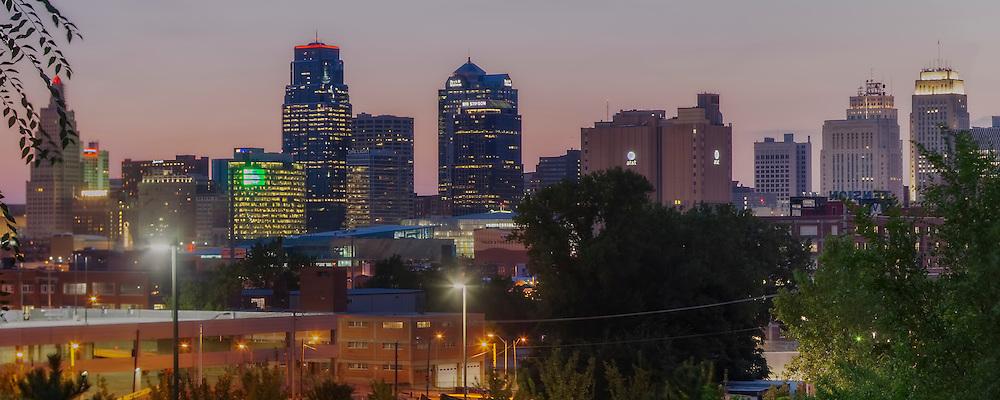 Kansas City downtown skyline panorama photo